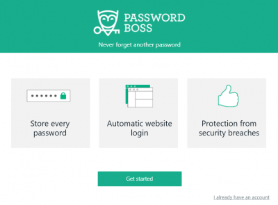 Password Boss get started
