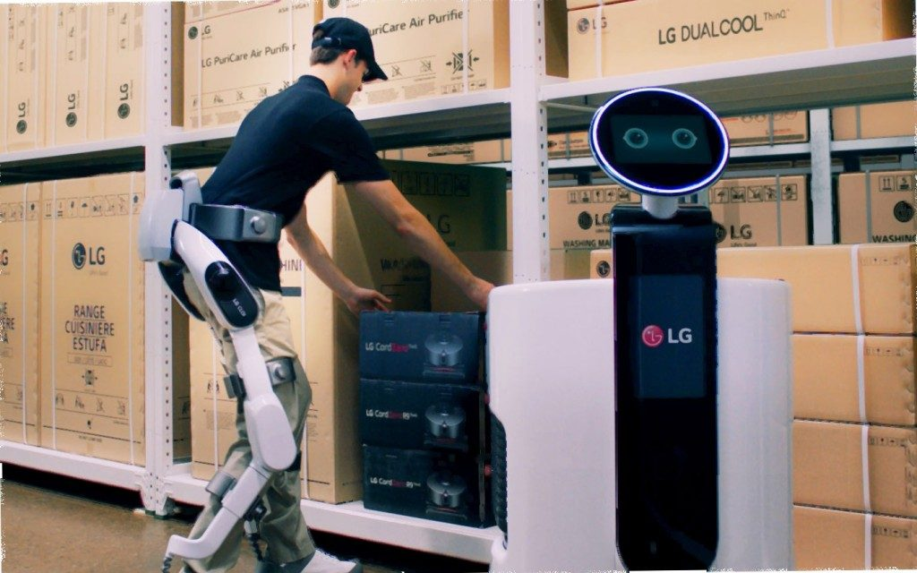 The SuitBot can help workers enhance their lower body's movements.