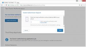 coinbase verification code
