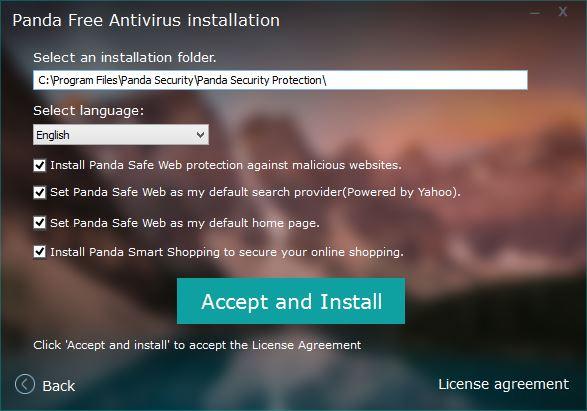 panda free antivirus installation