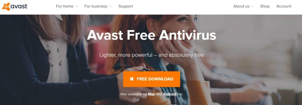 Avast Free Antivirus Software