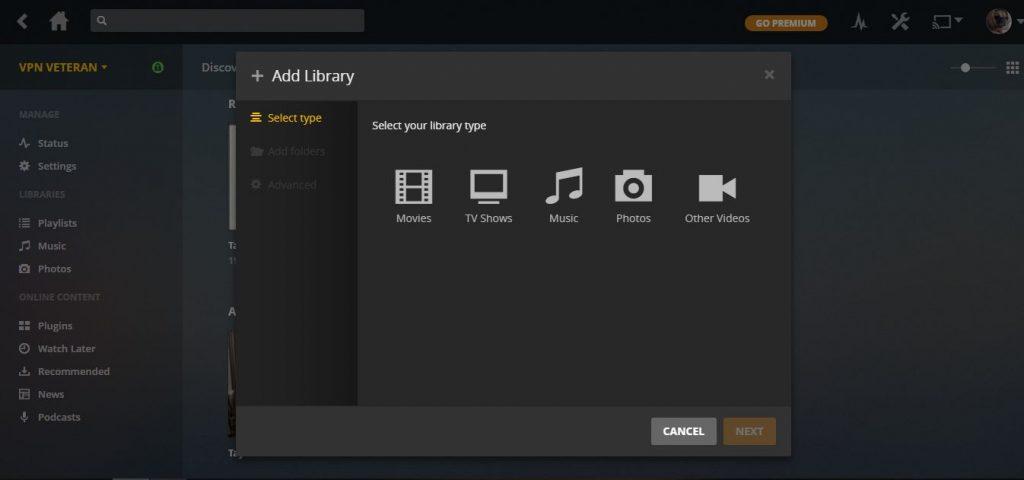 plex add library