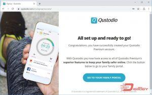 qustodio set-up