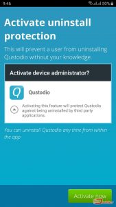 qustodio activate uninstall protection