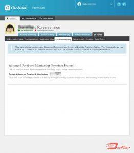 qustodio social monitoring