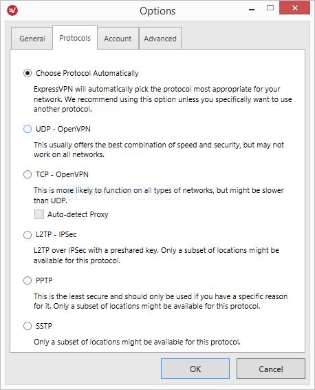 expressvpn protocols settings