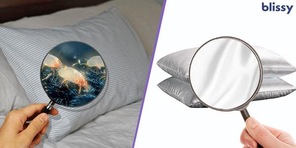 regular pillow vs. blissy